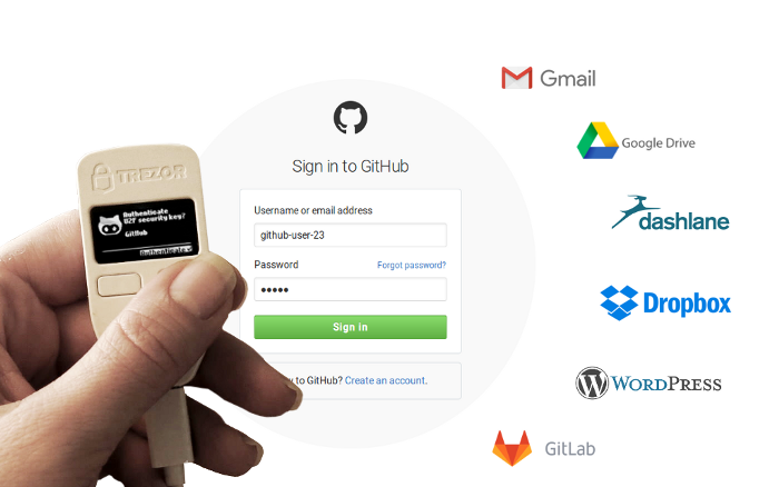 Trezor multifactor authentication can be used for your wallet and at a number of other sites.