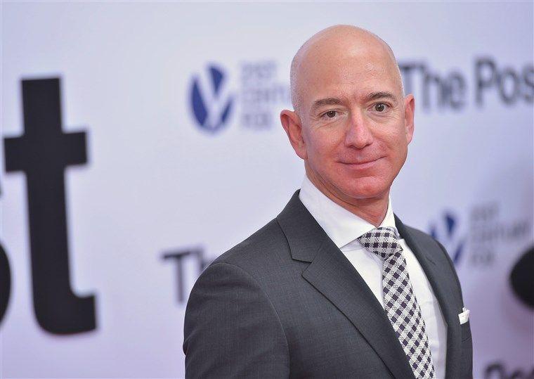 Jeff Bezos, the head of Amazon, at a film premiere.