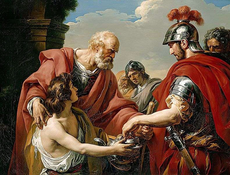 No, not this one. Belisarius by François-André Vincent, Wikimedia Commons.