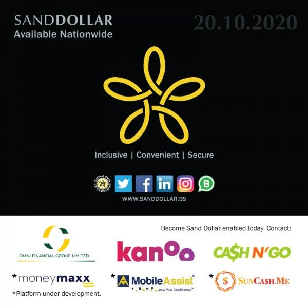 The Bahamian Central Bank partnered with traditional financial institutions to introduce a national digital currency. By Sand Dollar.